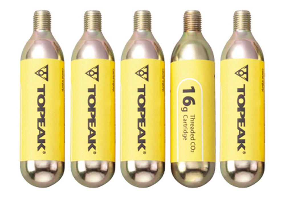 Topeak CO2 patroner med gevind 16g, med gevind, sæt a 5 grå | Find cykeltilbehør på nettet ...